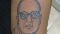 Dr. Ambekar Portrait Tattoo